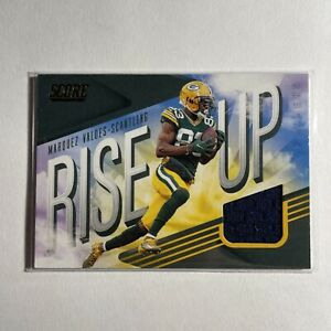 2021 Score MARQUEZ VALDES SCANTLING Rise Up #RU20 Jersey Patch Green Bay Packers $7.77