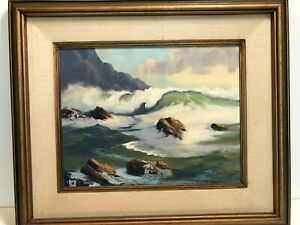 Original Nona Taylor Oil Painting Seascape Signed amp; Framed 17 1 2quot; x 13 1 2quot; $499.99