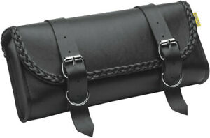 Willie Max Luggage Black Braided Motorcycle Tool Pouch Fits Forks or Sissy $51.43