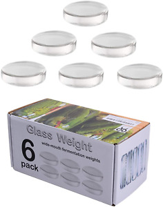 6 Pack Large Glass Fermentation Weights For Wide Mouth Mason Jars NEW $22.48
