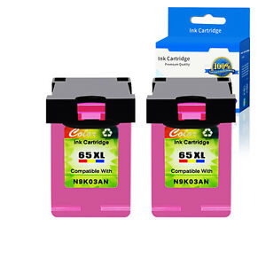 2PK 65XL N9K03AN Color Ink Cartridge Compatible with HP ENVY 5055 HP AMP 100 $33.95