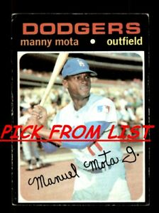 1971 Topps 3 259 Pick From List All PICTURED $0.99