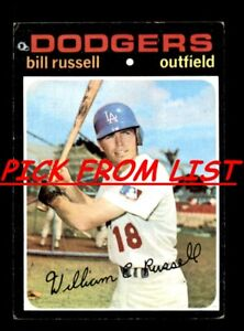 1971 Topps 219 523 Pick From List All PICTURED $0.99