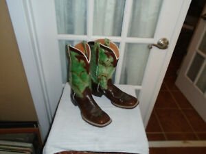 Dan Post Cowgirl Certified Mint Brown Square Toe Western Boots Womens 8.5 M $87.96