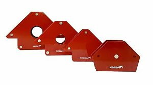 MAGNETIC ANGLE FIXTURE FOR WELDING AND HOLDING PURPOSE PACK OF 4 DIFFERENT SIZE $66.68