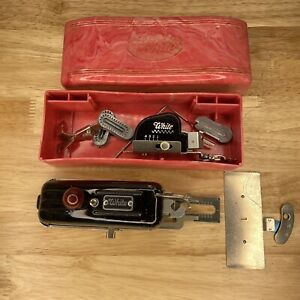 Vintage White Sewing Case And Parts Attachments Accessory in Box As Is $14.99