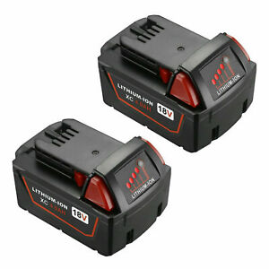 2 PACK For Milwaukee M18 Lithium XC 4.0 Extended Capacity Battery 48 11 1860