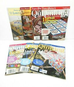 Fons and Porter#x27;s For the Love of Quilting Magazines Lot of 14 Years 2001 2014 $19.88