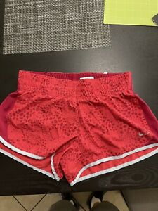 Womens Nike Running Shorts Size Small Pink Hibiscus $10.00