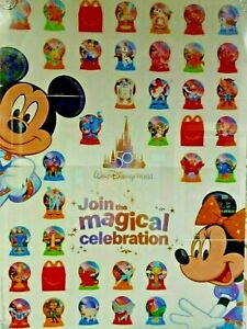 *PRICES REDUCED* McDONALDS DISNEY WORLD 50TH ANNIVERSARY HAPPY MEAL TOYS 2021 $0.99