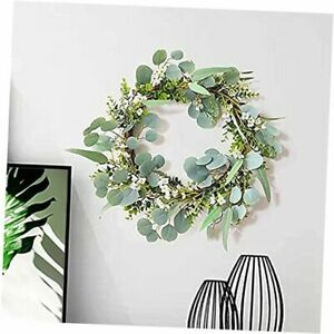 20 Artificial Hanging Wreath with Green Eucalyptus Leaves Diameter 20� $36.13