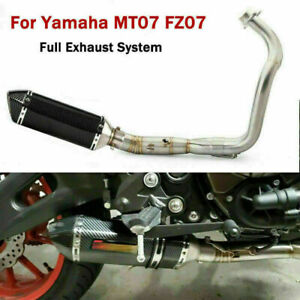 Stainless Motorcycle Exhaust Connect Link Escape Muffler Tips B for Yamaha MT07 $109.68