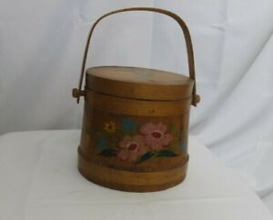 Vintage Wooden Sewing Box Handmaid and Hand Painted $28.00