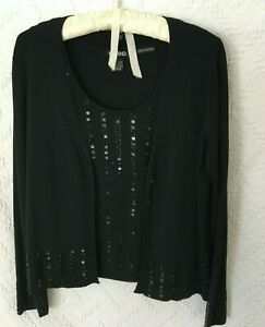 CABO Womans 2piece Large dressy Sequined knit tank and jacket $35.00