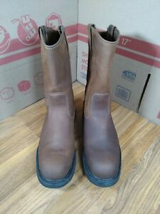 Mens Wolverine Wellington Work Boots W04727 Size 14 Leather Upper Worn once $79.99