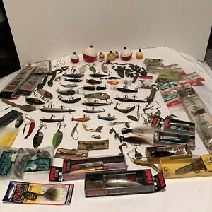 Vintage Fishing Lure and Tackle Lot Vintage New in Box and Used Over 100 incl.
