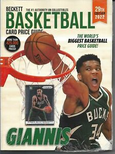 2022 Beckett Basketball Card Annual Price Guide 29th Edition Giannis Brand New $29.49