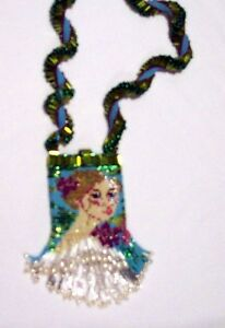 Designer Jewelry - Lady Iris Amulet Bag - Pearls!