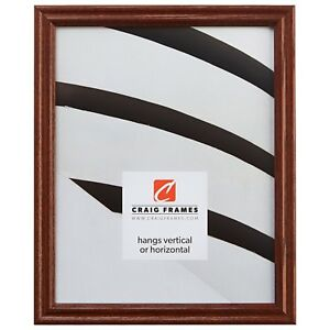 Craig Frames .75quot; Traditional Walnut Brown Wood Picture Frames amp; Poster Frames