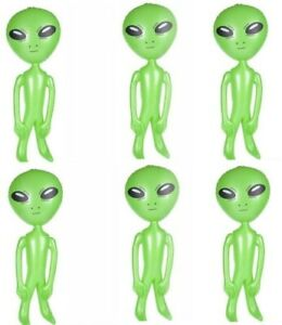 LOT OF 6 BIG 36quot; ASSORTED ALIEN INFLATE INFLATABLE 3 FEET BLOW UP PROP GAG GIFT $19.99