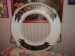 SS UNITED STATES LINES  Original Show Ring from Passenger Gangway   (RARE)