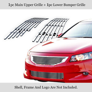 Fits 08-10 Honda Accord Coupe Billet Grille Combo