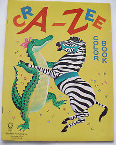 1963 stephens cra zee alphabet coloring book 16