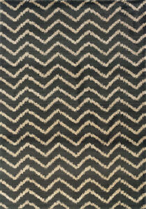 3x10 Sphinx Chevron Lines Casual Slate 5993E Stripes Area Rug - Approx 2' 7