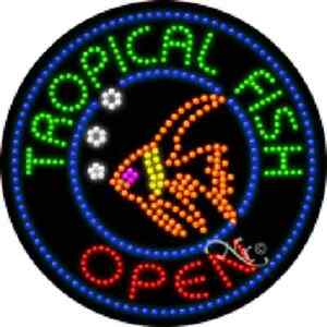 TROPICAL FISH - OPEN HIGH IMPACT EYE-CATCHING LED SIGN
