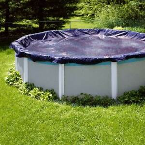Swimline PCO831 28 Foot Round Above Ground Winter Swimming Pool Cover Blue