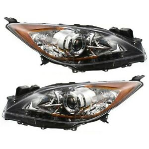 Halogen Headlight Set Left and Right For 2010 2011 2012 2013 Mazda 3 $159.90