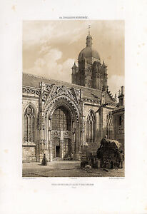 Antique Print-PORTAL-CHURCH-DENIS A MORTAGNE-ORNE-NORMANDIE-FRANCE-Benoist-1852
