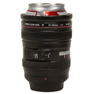 Camera Zoom Lens Beer Drink Cooler Bottle Can Foam Cup Can Holder