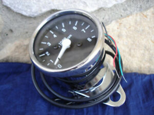 MOTORCYCLE TACHOMETER FOR ALL DUAL FIRE IGNITIONS HARLEY TACH UNIVERSAL FIT $62.00