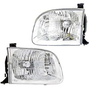 Headlight Set Left and Right For Toyota 2001 04 Sequoia 00 04 Tundra Double Cab $57.99