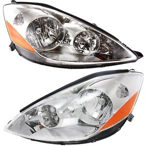 Headlight Set For 2006 2010 Toyota Sienna Left and Right With Bulb 2Pc $145.64