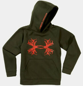 Under Armour Youth Solid Antler STORM Hoodie (Rifle Green) 1241052-308