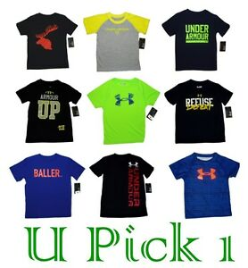 UNDER ARMOUR TEE SPORTS ATHLETIC GRAPHIC T SHIRT BOYS SHORT SLEEVE ACTIVE KIDS