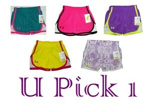 UNDER ARMOUR SHORTS KIDS LITTLE GIRLS ESCAPE ATHLETIC SPORTS SUMMER PANTS