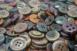 Dark Brown Craft Buttons mixed size large small Round Bulk sewing 100g 200g 400g GBP 2.89