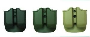 IMI New Black Green Desert Tan Double Mag Pouch for MAGNUM BABY EAGLE (940)