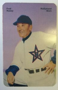 1952 Mother's Cookies Fred Haney Rare Schedule Back Variation