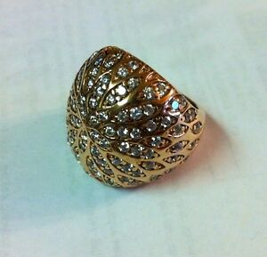 STERLING SILVER ROSE GOLD PLATED SONIA BITTON BRILLIANTE RING