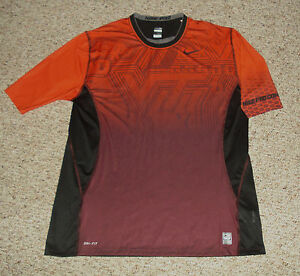 NEW 3XL NIKE PRO COMBAT AUTHENTIC VIRGINIA TECH HOKIES TEAM UNDER JERSEY SHIRT