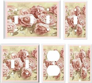 PINK VICTORIAN ROSES IMAGE #2 ~ LIGHT SWITCH COVER PLATE OR OUTLETS U PICK PLATE