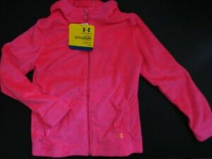 NWT Under Armour Girl's XL Storm Super Furry Pink Hoody Hoodie ColdGear