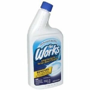 The Works Toilet Bowl Cleaner Disinfectant 32 oz Bottle