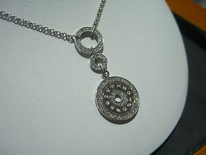 FINE ITALIAN DESIGNER CIRCLE DIAMOND ZODIAC NECKLACE HAND MADE 1.50 CARATS NEW