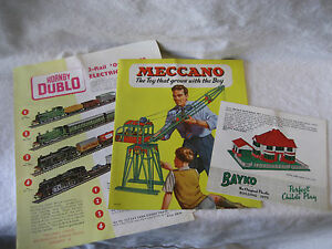 vintage meccano hornby duplo catalog lot toy