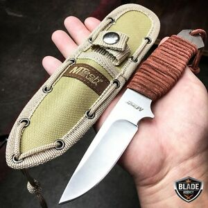 8 MTECH Military SURVIVAL Tactical Fixed Blade Hunting Camping Knife  Sheath